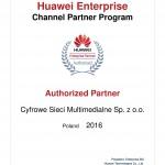Certyfikat partnerstwa Huawei